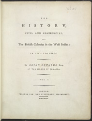 The History, Civil And Commercial, Of The British Colonies In The West Indies -Title Page
